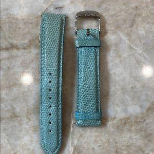 Michele genuine lizard watch strap 18mm